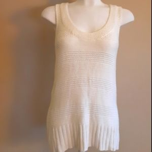 XXI | Soft creamy cable drapey sleeveless knit